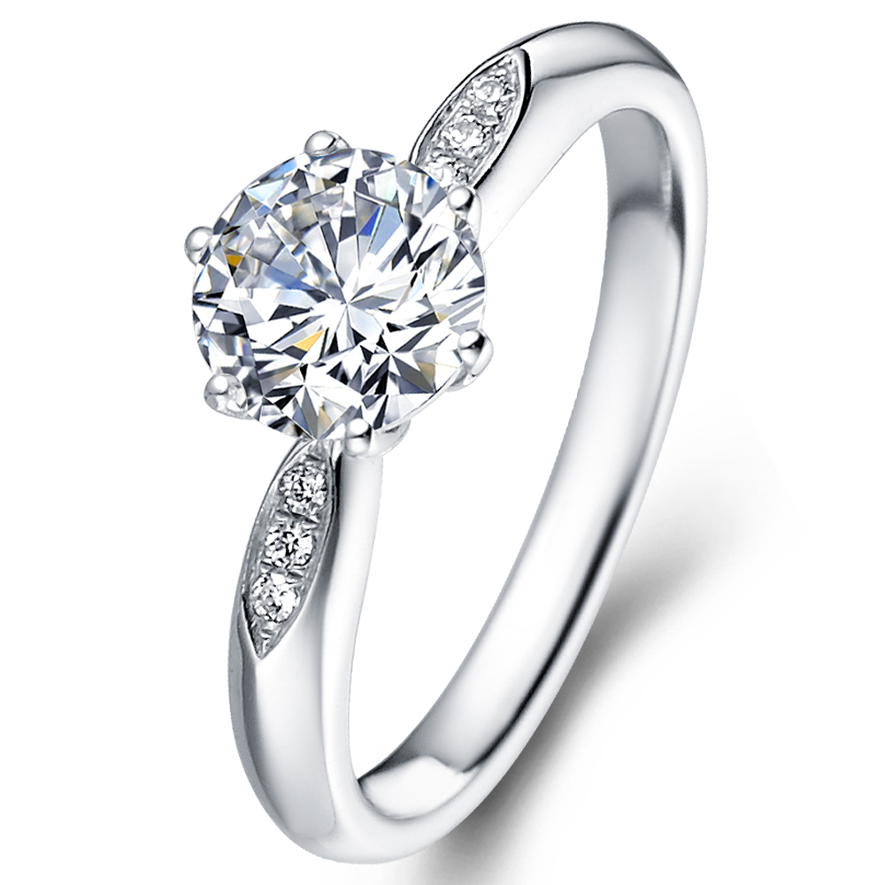 in 18K White Gold with a 1 Carat Diamond