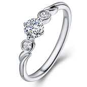 in 14K White Gold with a 0.3 Carat Diamond