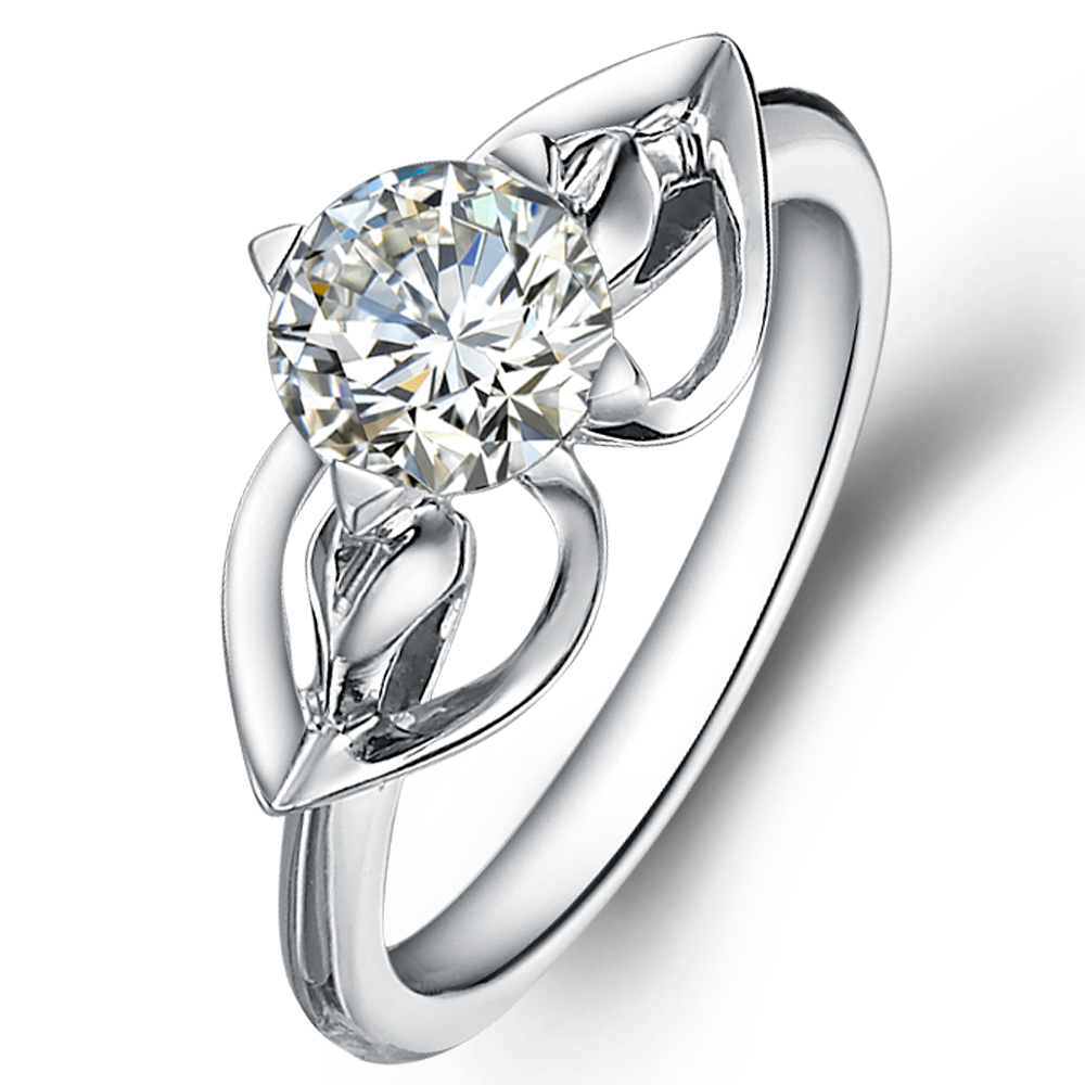 in 14K White Gold with a 0.8 Carat Diamond