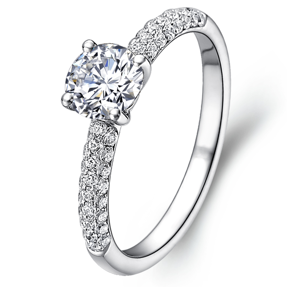 Promise diamond ring in 14K White Gold with a 0.3 Carat Diamond