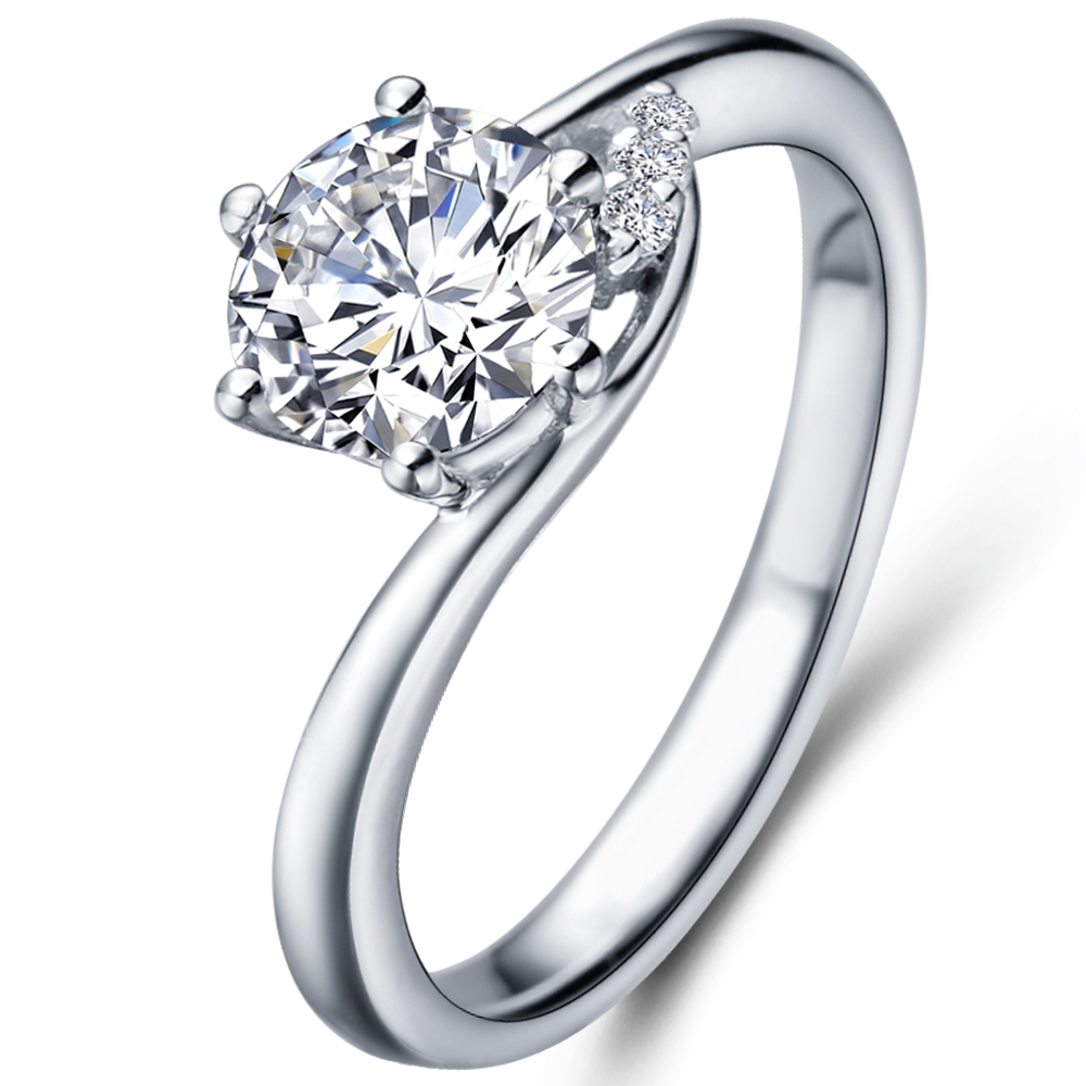 in 14K White Gold with a 0.5 Carat Diamond