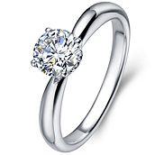 in 14K White Gold with a 0.4 Carat Diamond