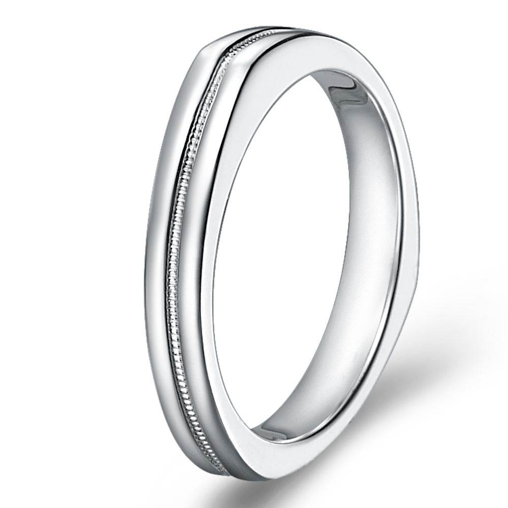 The Dome in 14k white gold