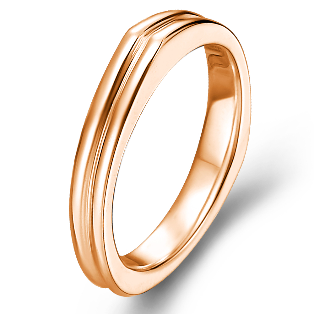 The Dome in 14k rose gold