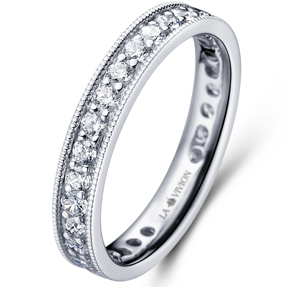Vintage Eternity in 18k white gold  with 1.35 ct. of Diamonds