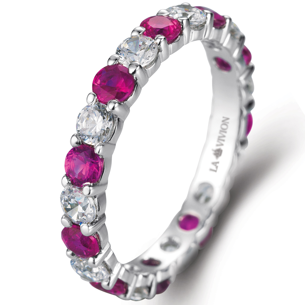 Eternity ring in 18k white gold  with 0.9 ct. of Diamonds