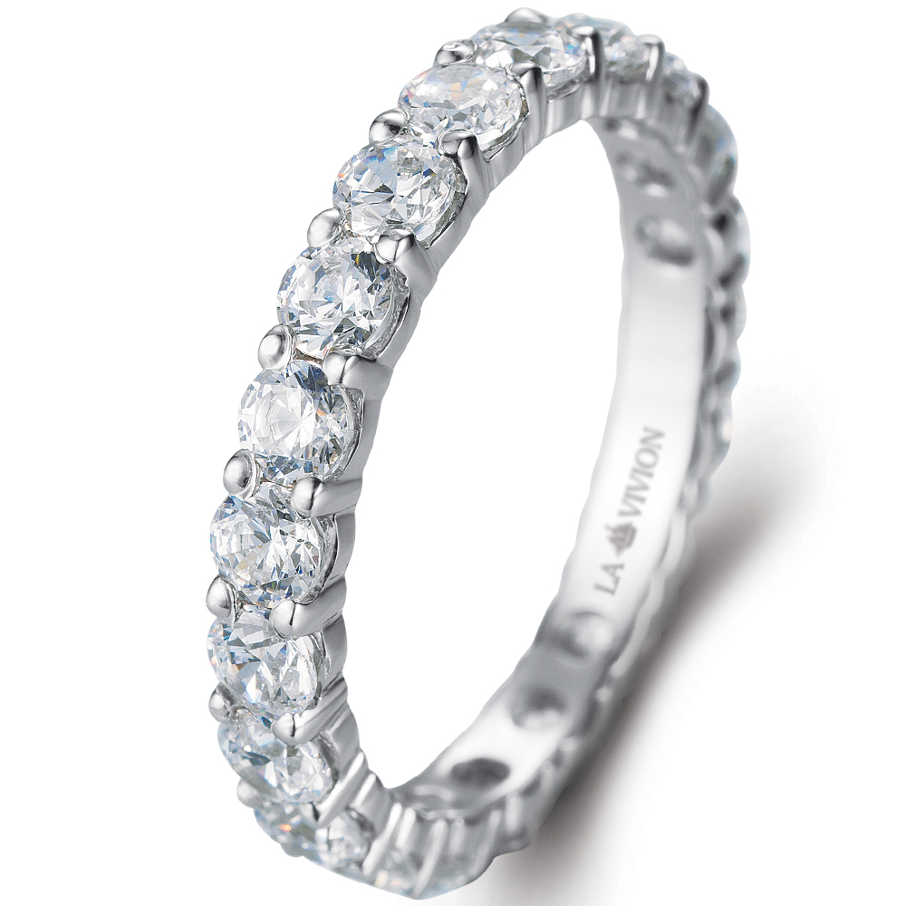 Eternity Ring in 14k white gold with 1.71 ct. of Diamonds