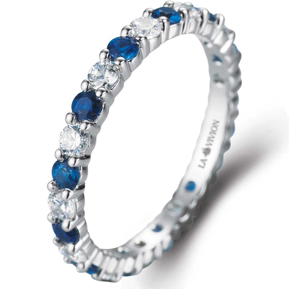 Eternity Ring in 14k white gold with 0.54 ct. of Diamonds