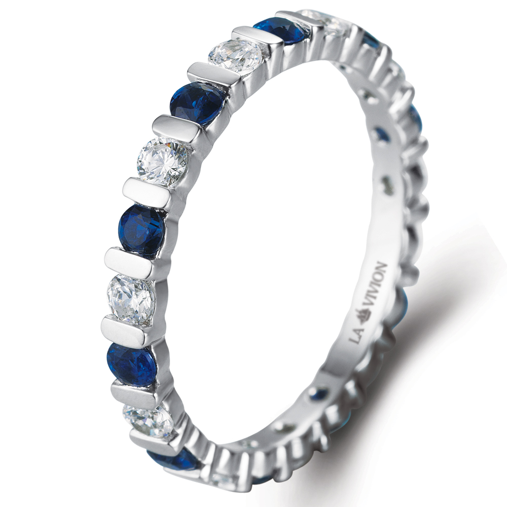 Eternity Ring in 14k white gold with 0.72 ct. of Diamonds