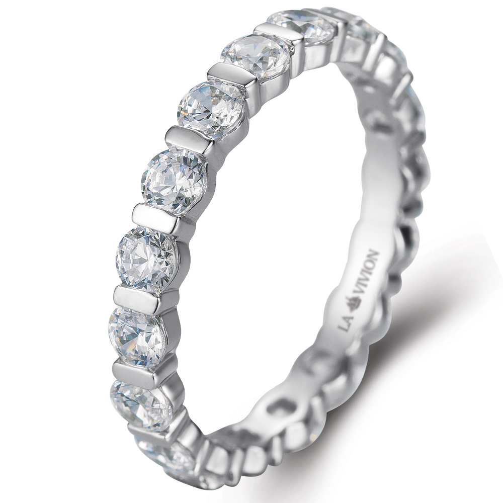 Eternity Ring in 14k white gold with 1.53 ct. of Diamonds