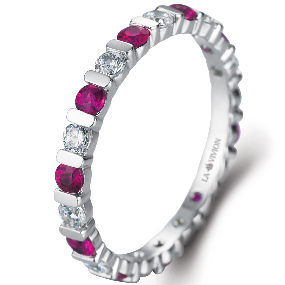 Eternity Ring in 14k white gold with 0.86 ct. of Diamonds