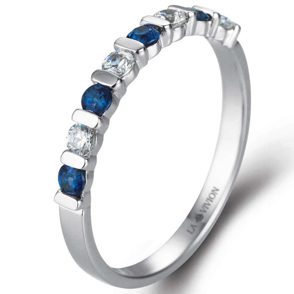 Eternity in 18k white gold  with 0.18 ct. of Diamonds