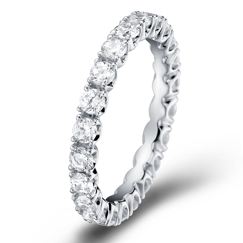 Star's Eternity Ring in 14k white gold with 1.16 ct. of Diamonds