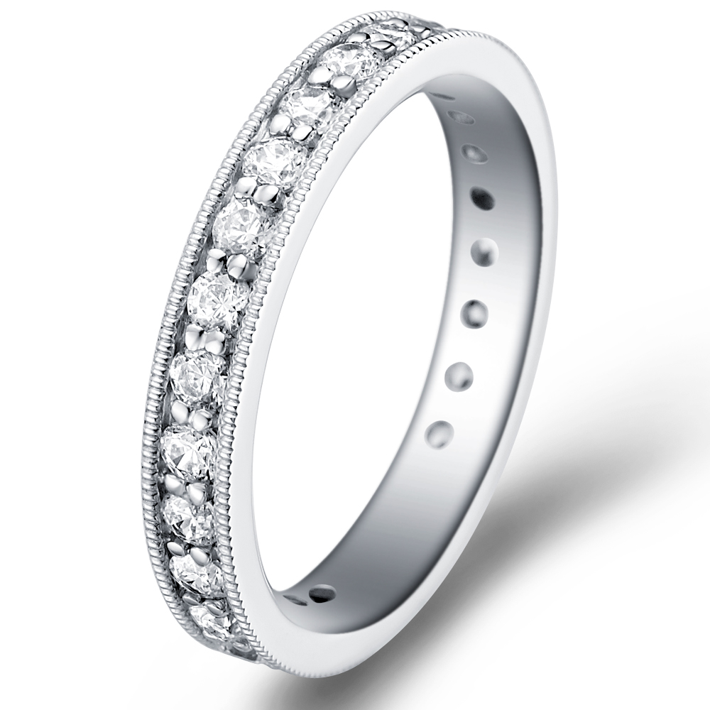 Vintage Eternity in 14k white gold with 1.16 ct. of Diamonds