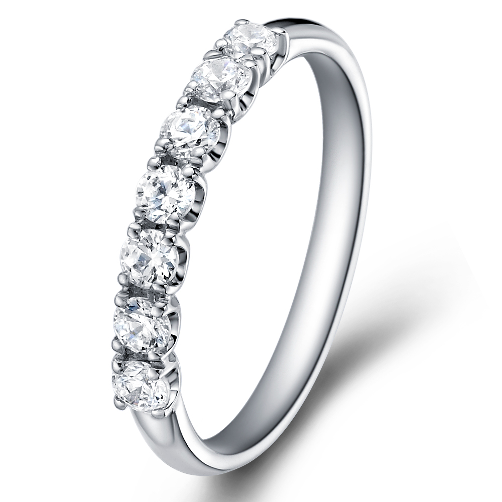 1/3 Eternity Ring in 18k white gold  with 0.35 ct. of Diamonds