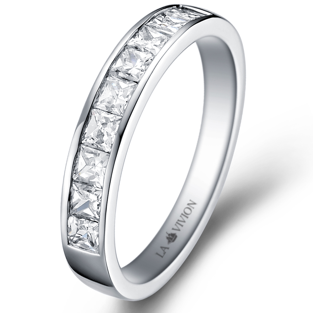 Starlight 1/2 Eternity in 14k white gold with 0.72 ct. of Diamonds