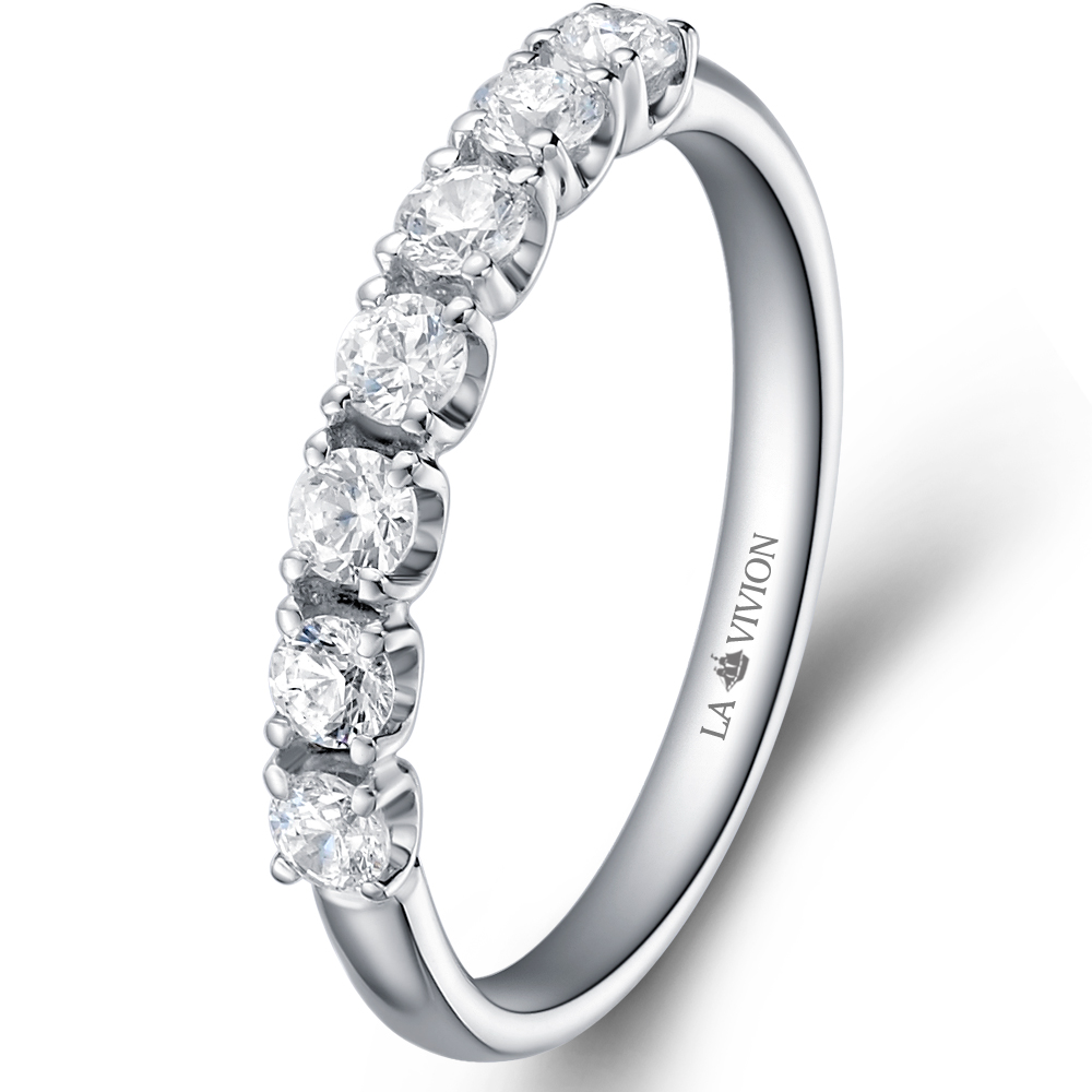 1/3 Eternity Ring in 18k white gold  with 0.5 ct. of Diamonds