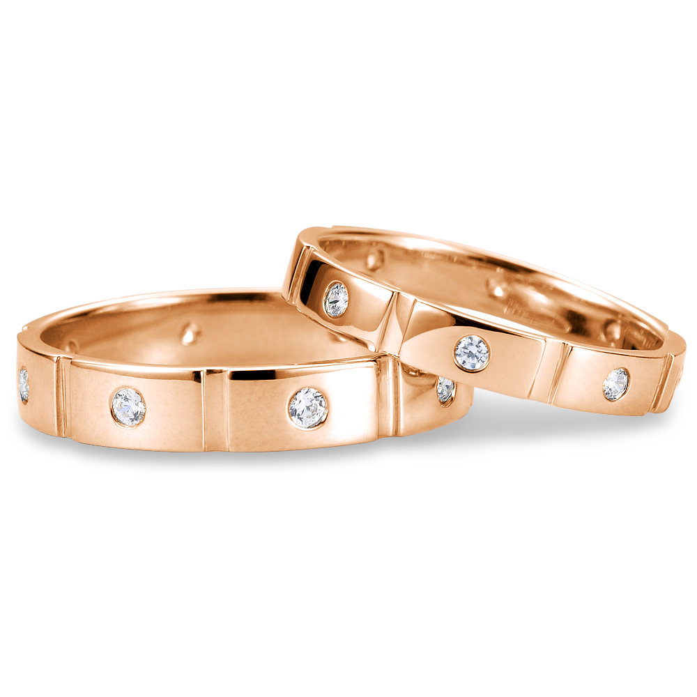 Forever in 14k rose gold with 0.24 ct. of Diamonds