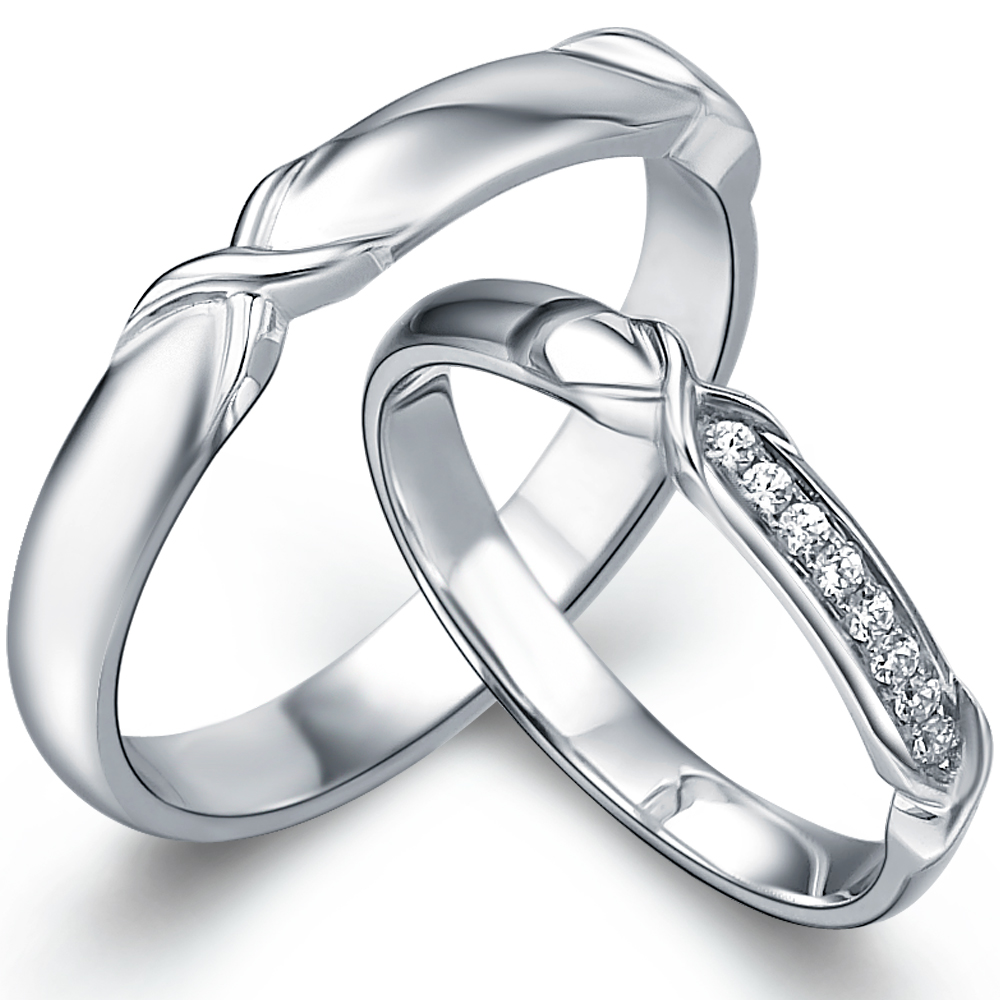 in 14k white gold with 0.07 ct. of Diamonds
