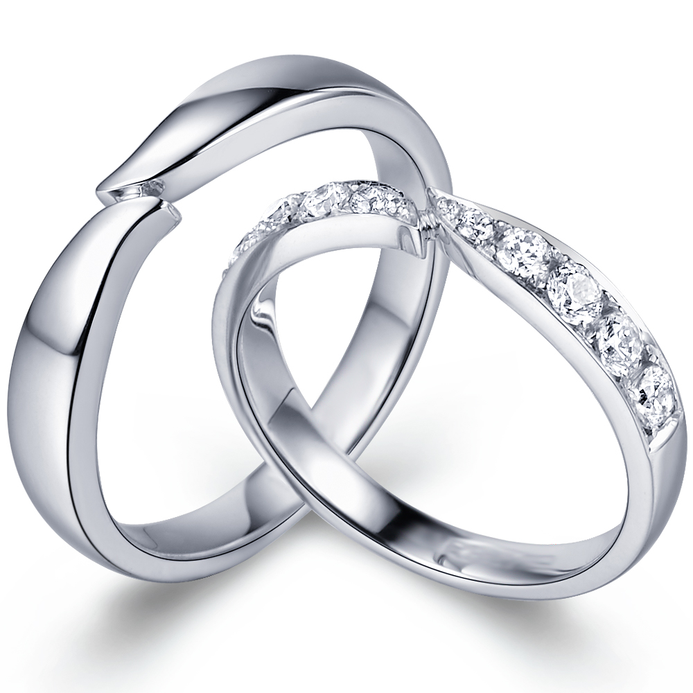 in 14k white gold with 0.48 ct. of Diamonds