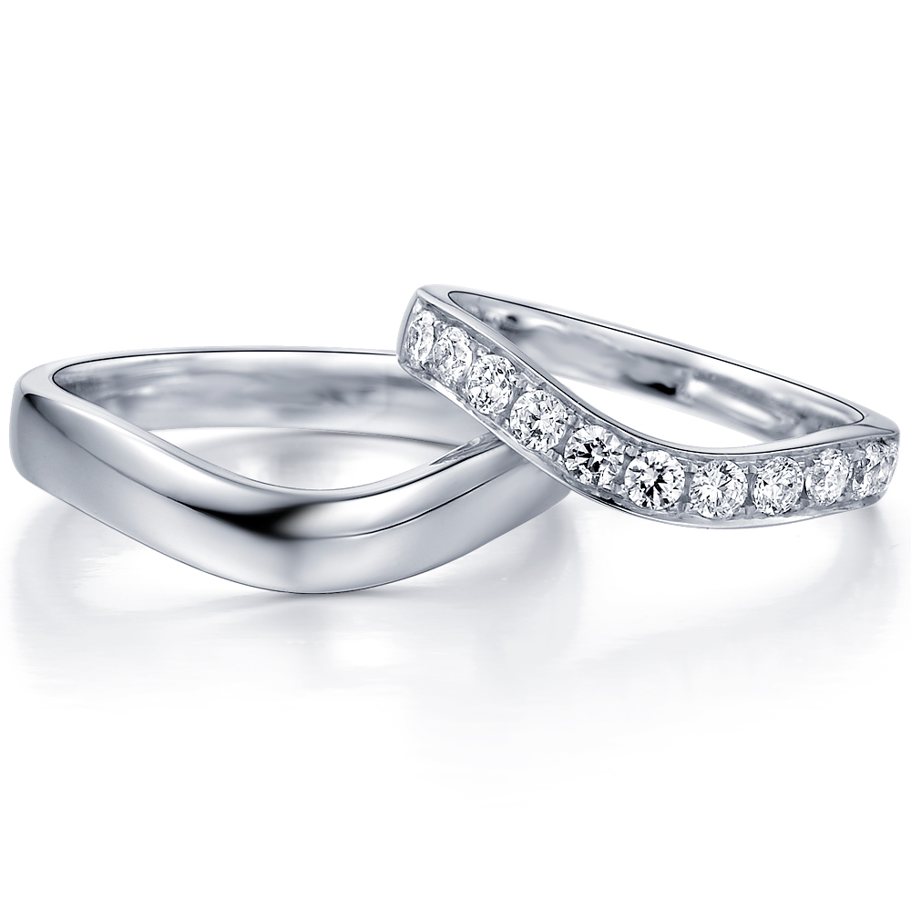 in 18k white gold  with 0.49 ct. of Diamonds