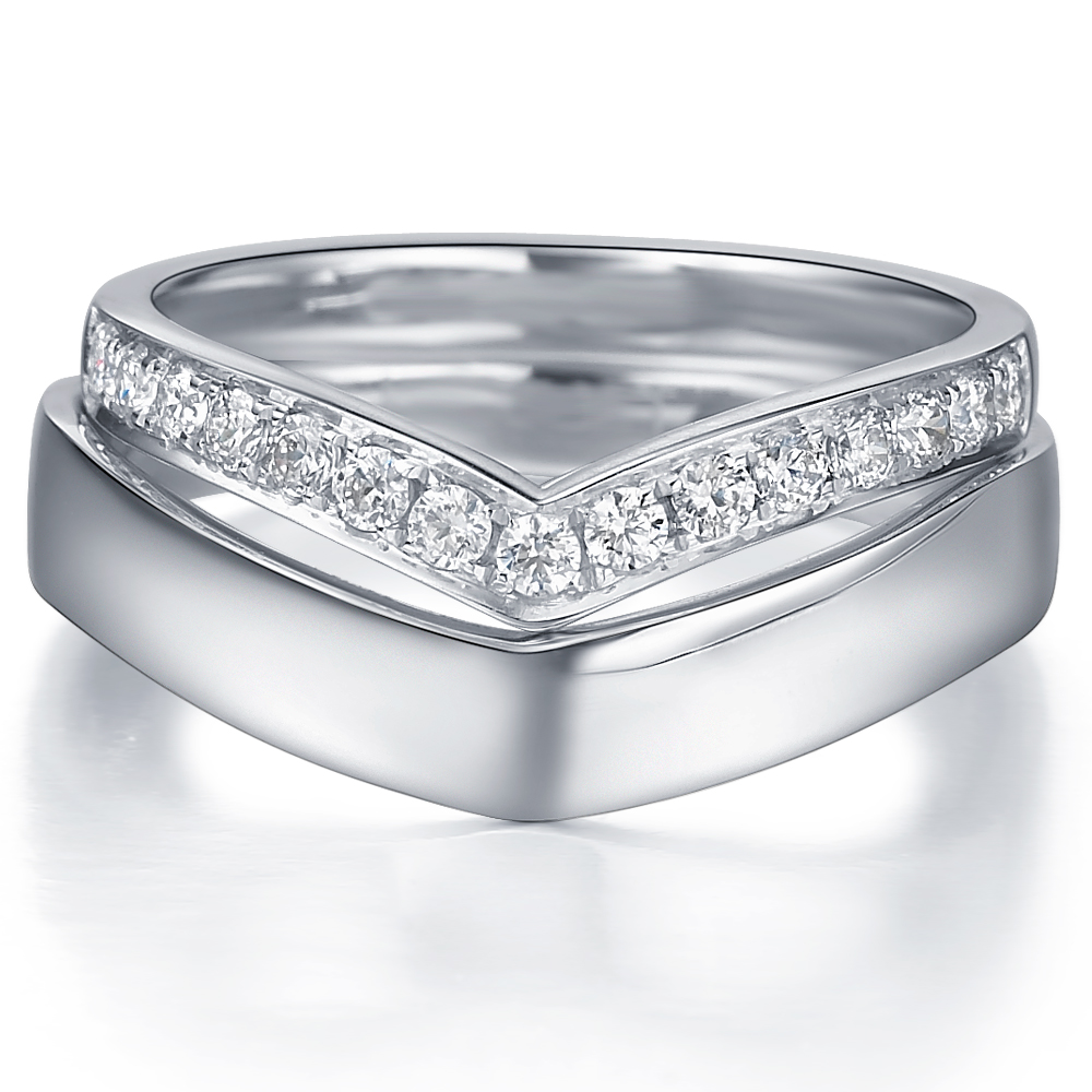 Awing II in 18k white gold  with 0.3 ct. of Diamonds