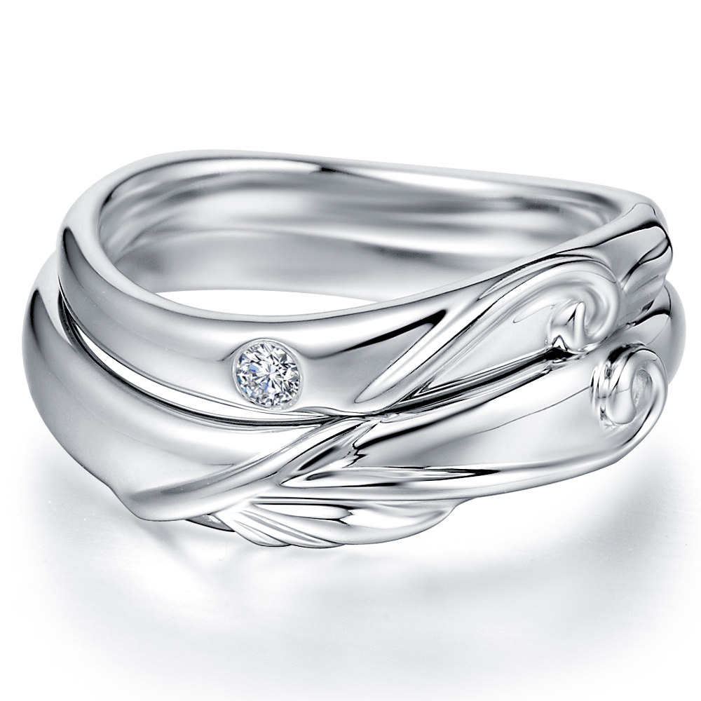 in 14k white gold with 0.02 ct. of Diamonds