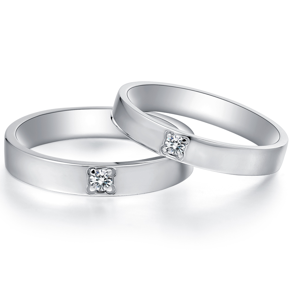 in 18k white gold  with 0.04 ct. of Diamonds