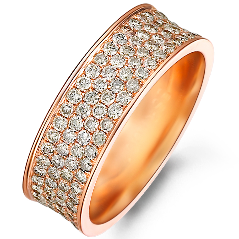 in 14k rose gold with 1.93 ct. of Diamonds