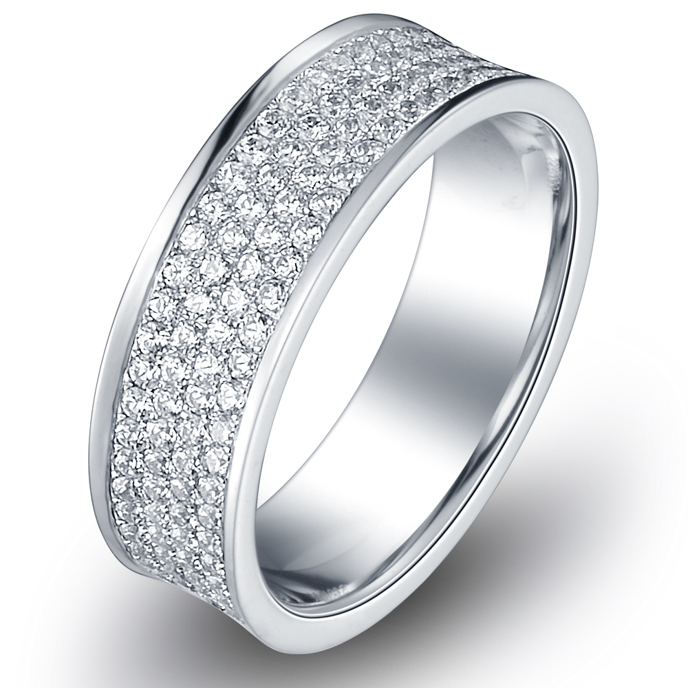 in 14k white gold with 1.93 ct. of Diamonds