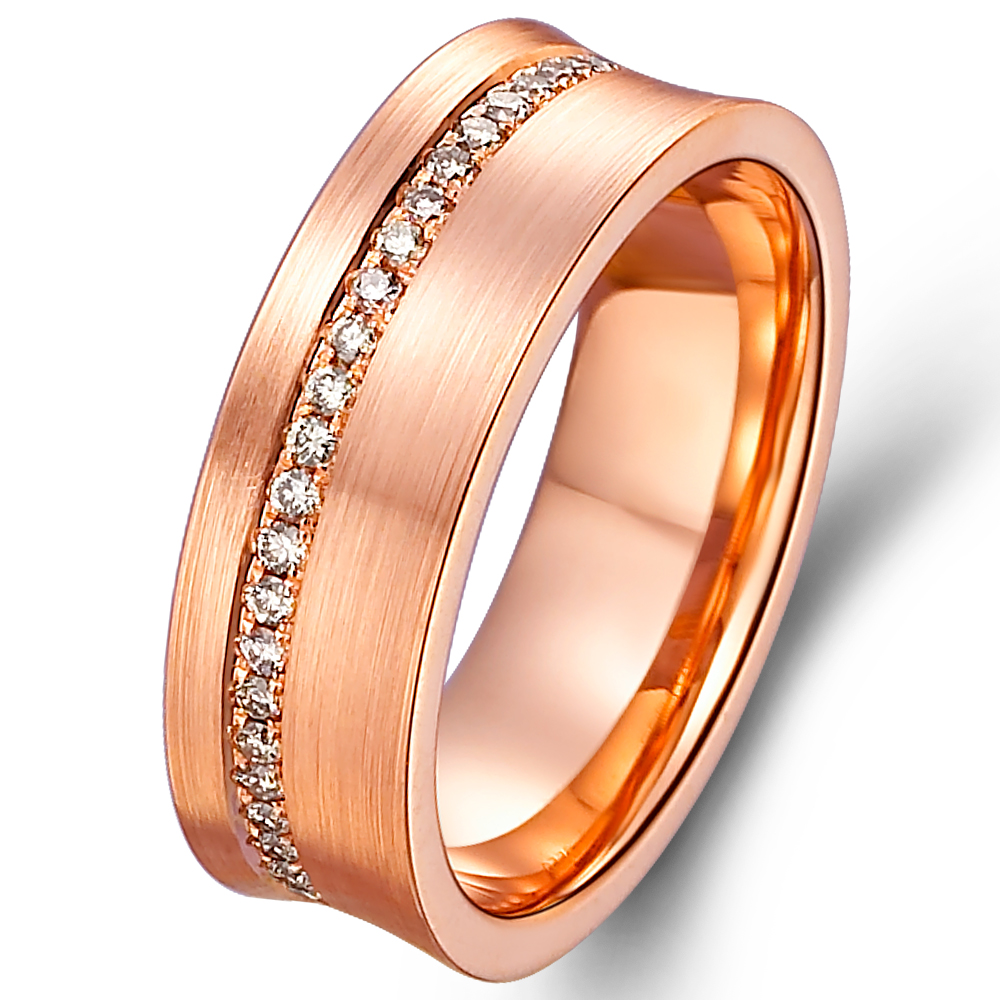 in 14k rose gold with 0.36 ct. of Diamonds