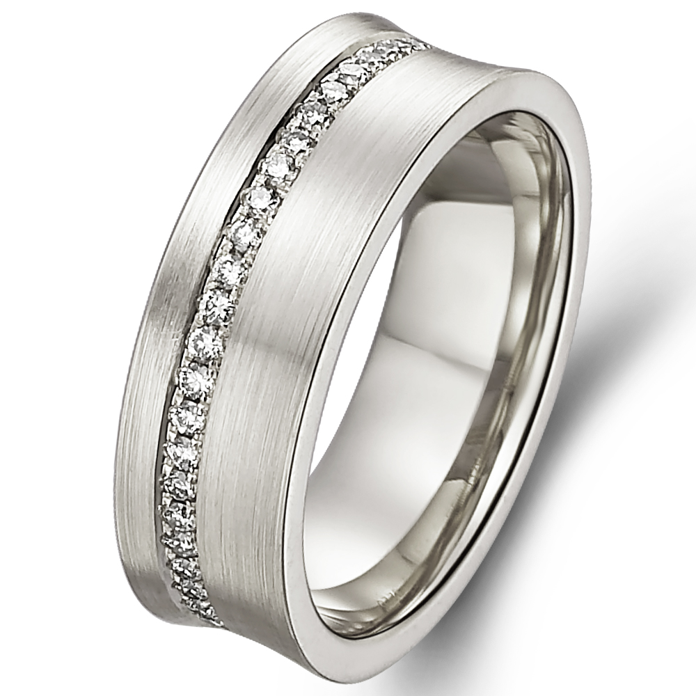in 18k white gold  with 0.36 ct. of Diamonds