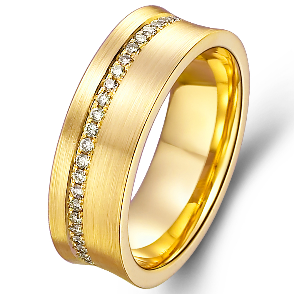 in 18k yellow gold with 0.36 ct. of Diamonds