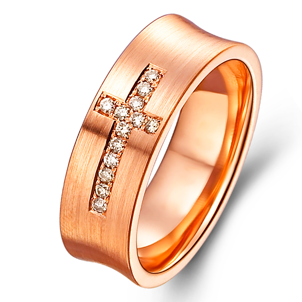 in 14k rose gold with 0.11 ct. of Diamonds