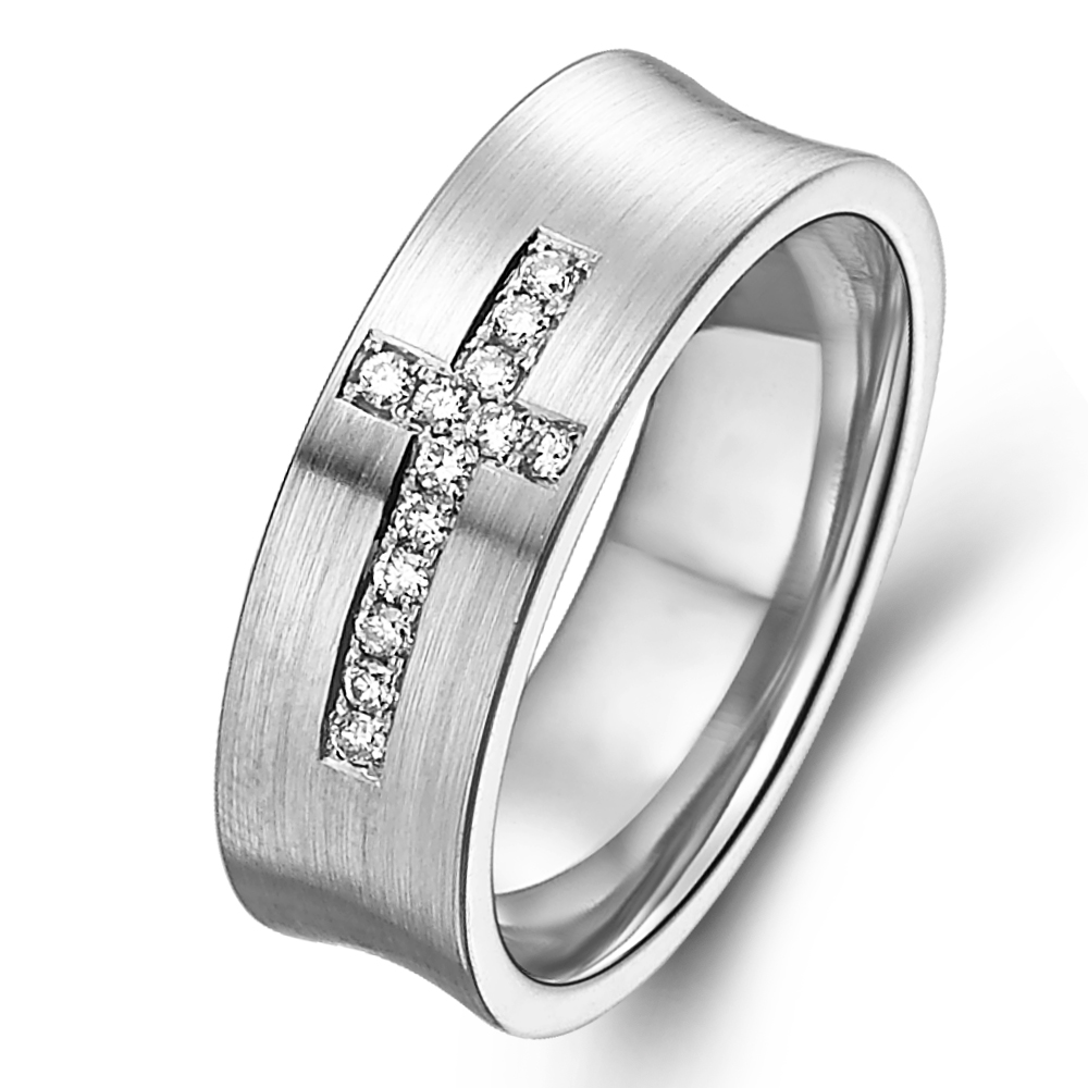 in 14k white gold with 0.11 ct. of Diamonds