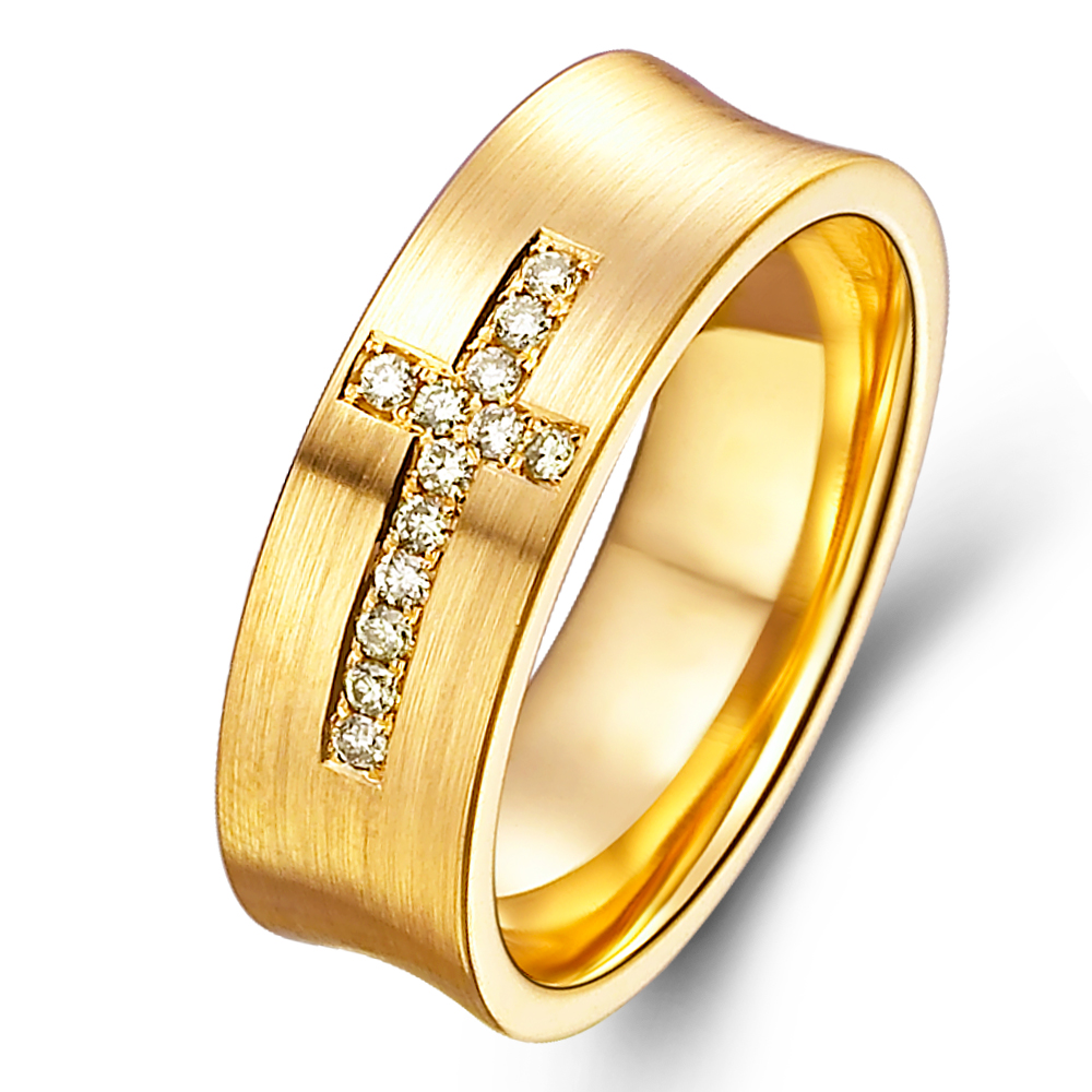 in 14k yellow gold with 0.11 ct. of Diamonds