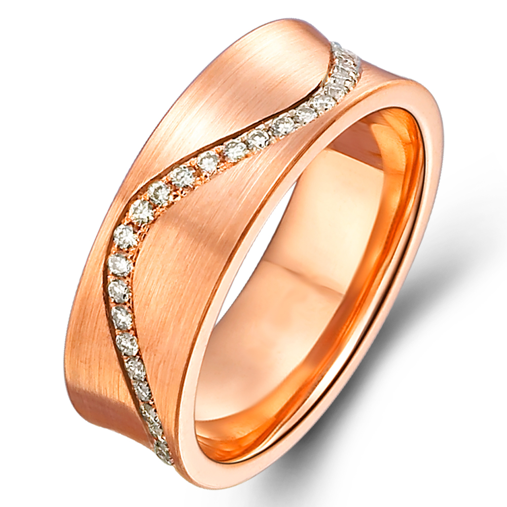 in 14k rose gold with 0.38 ct. of Diamonds