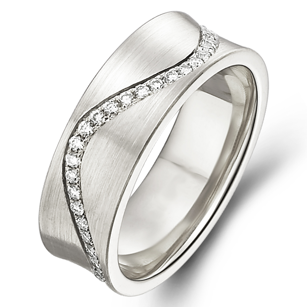 in 14k white gold with 0.38 ct. of Diamonds