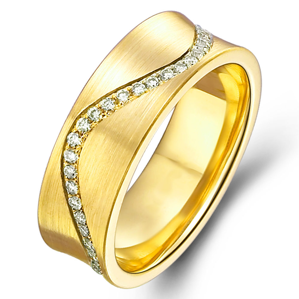 in 18k yellow gold with 0.38 ct. of Diamonds