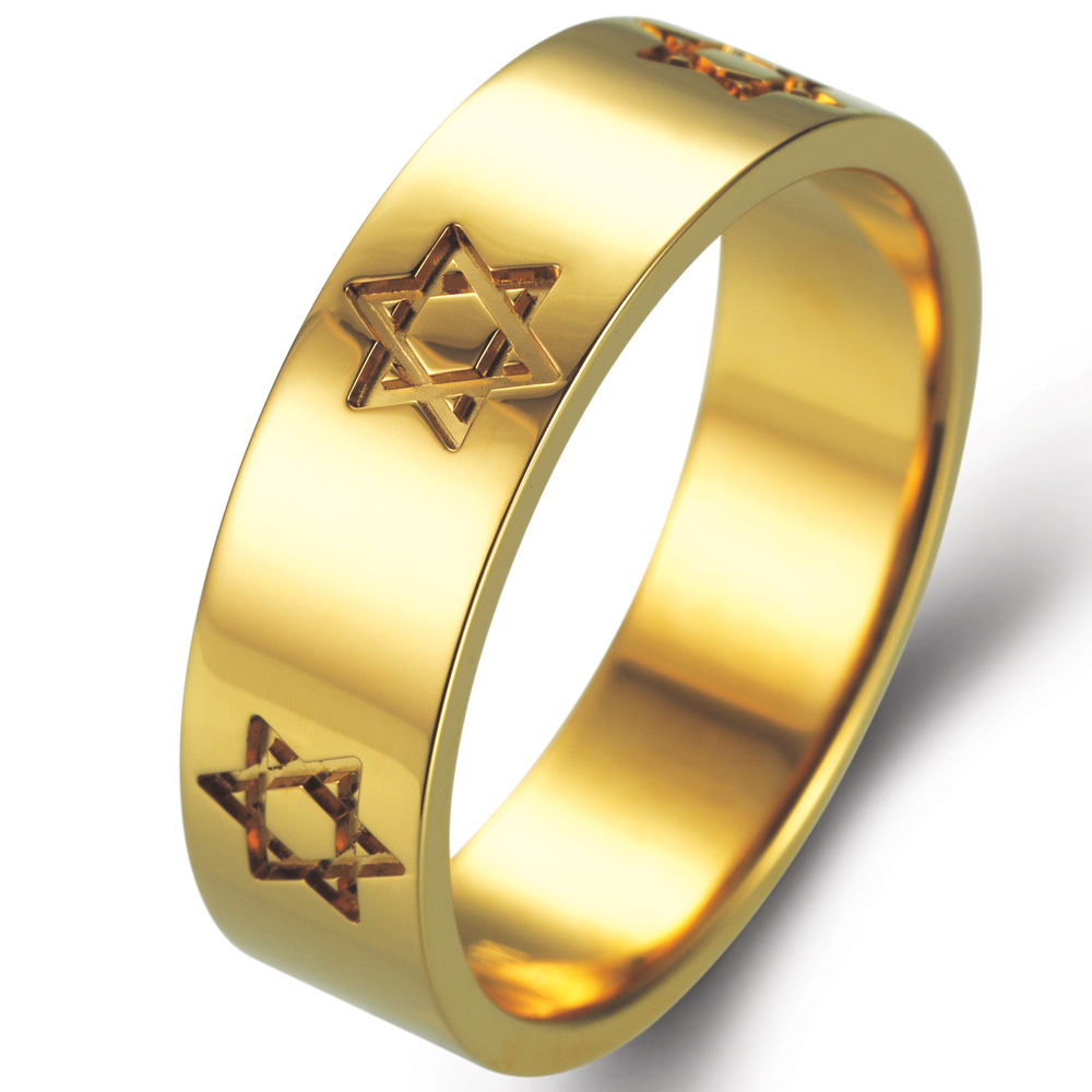 Magen David in 14k yellow gold