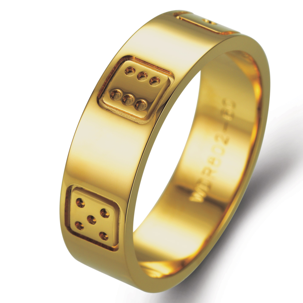 Game in 18k yellow gold
