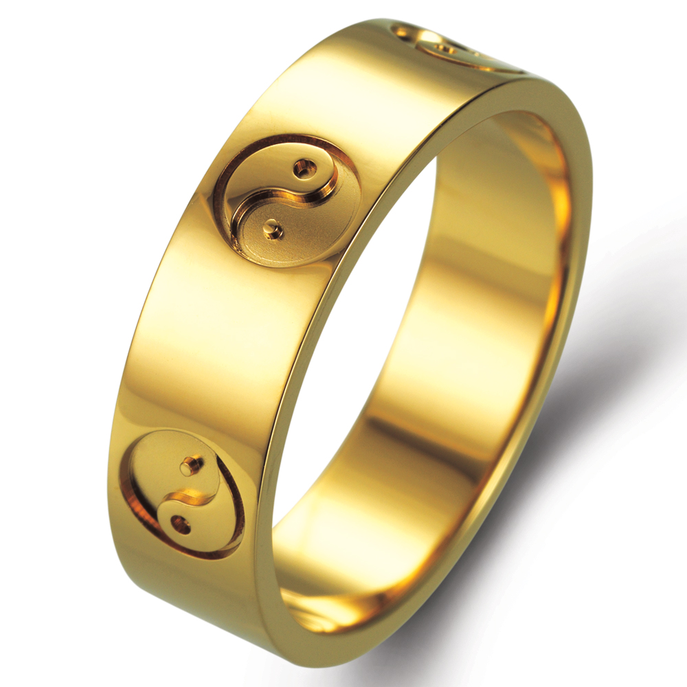 Yin Yang in 14k yellow gold