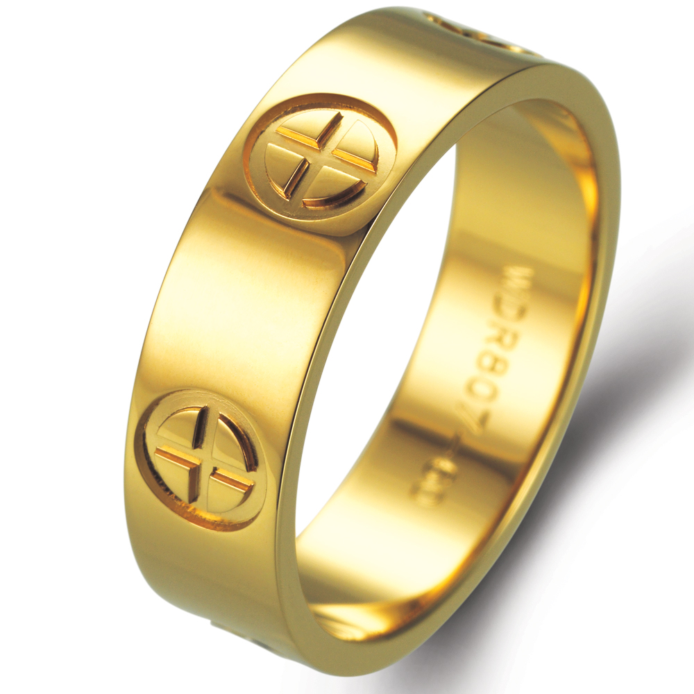 Cross in 18k yellow gold