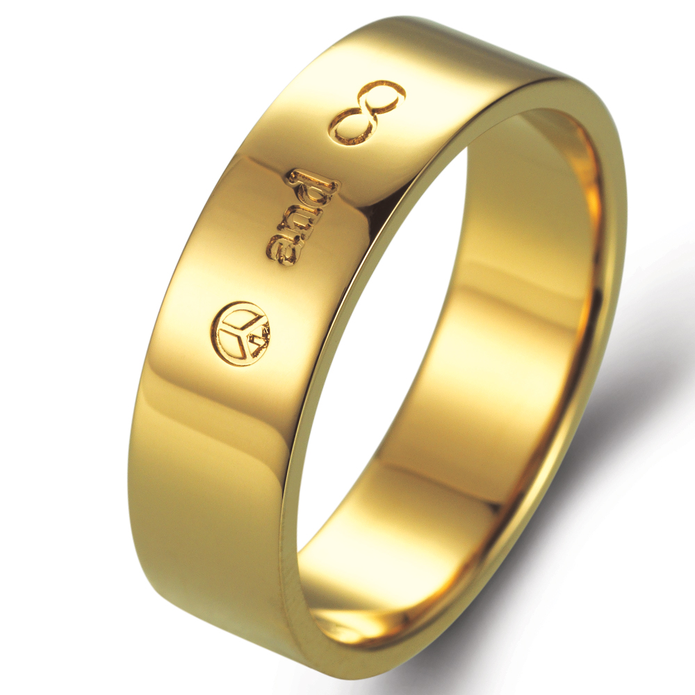 Peace and Eternity in 14k yellow gold
