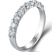 1/3 Eternity Ring in 14k white gold with 0.72 ct. of Diamonds