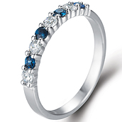 1/3 Eternity in 14k white gold with 0.18 ct. of Diamonds