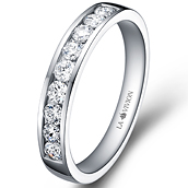 1/3 Eternity Ring in 14k white gold with 0.5 ct. of Diamonds