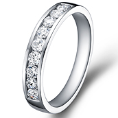 1/3 Eternity Ring in 14k white gold with 0.8 ct. of Diamonds