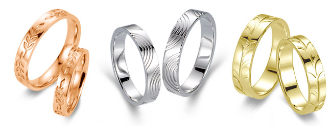 Engraved wedding rings by La Vivion