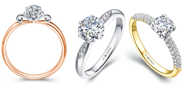Diamond Promise Rings by La Vivion
